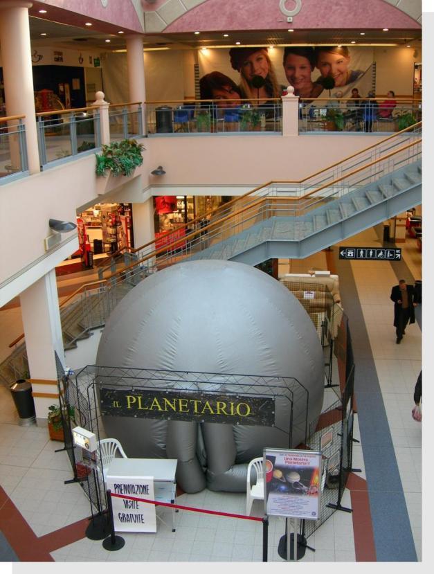 planetario con cupola gonfiabile
