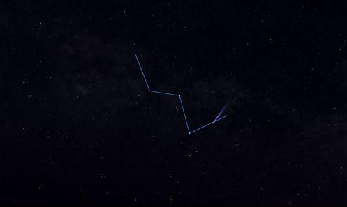 20  aprile,cometa in cassiopea