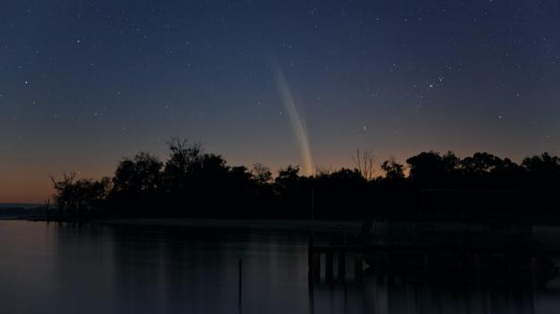 la coda della cometa Lovejoy