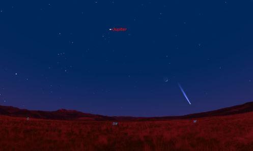 14 marzo, cometa e Giove