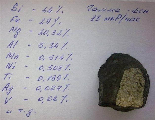 analisi di un meteorite rinvenuto