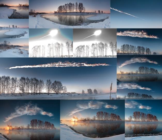 L'esplosione del superbolide nel cielo sopra  Chelyabinsk